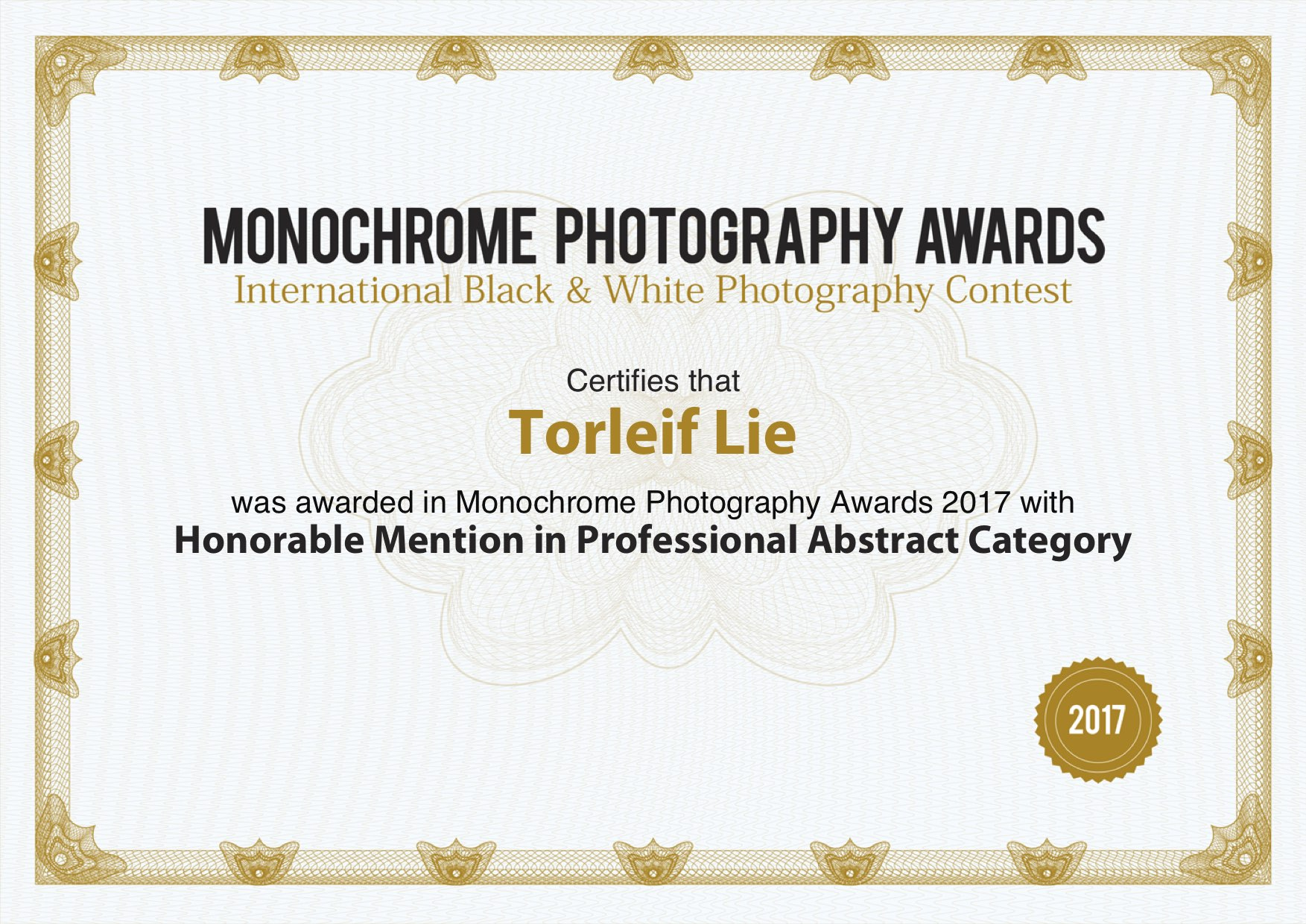 monoawards_certifcate_Torleif_Lie