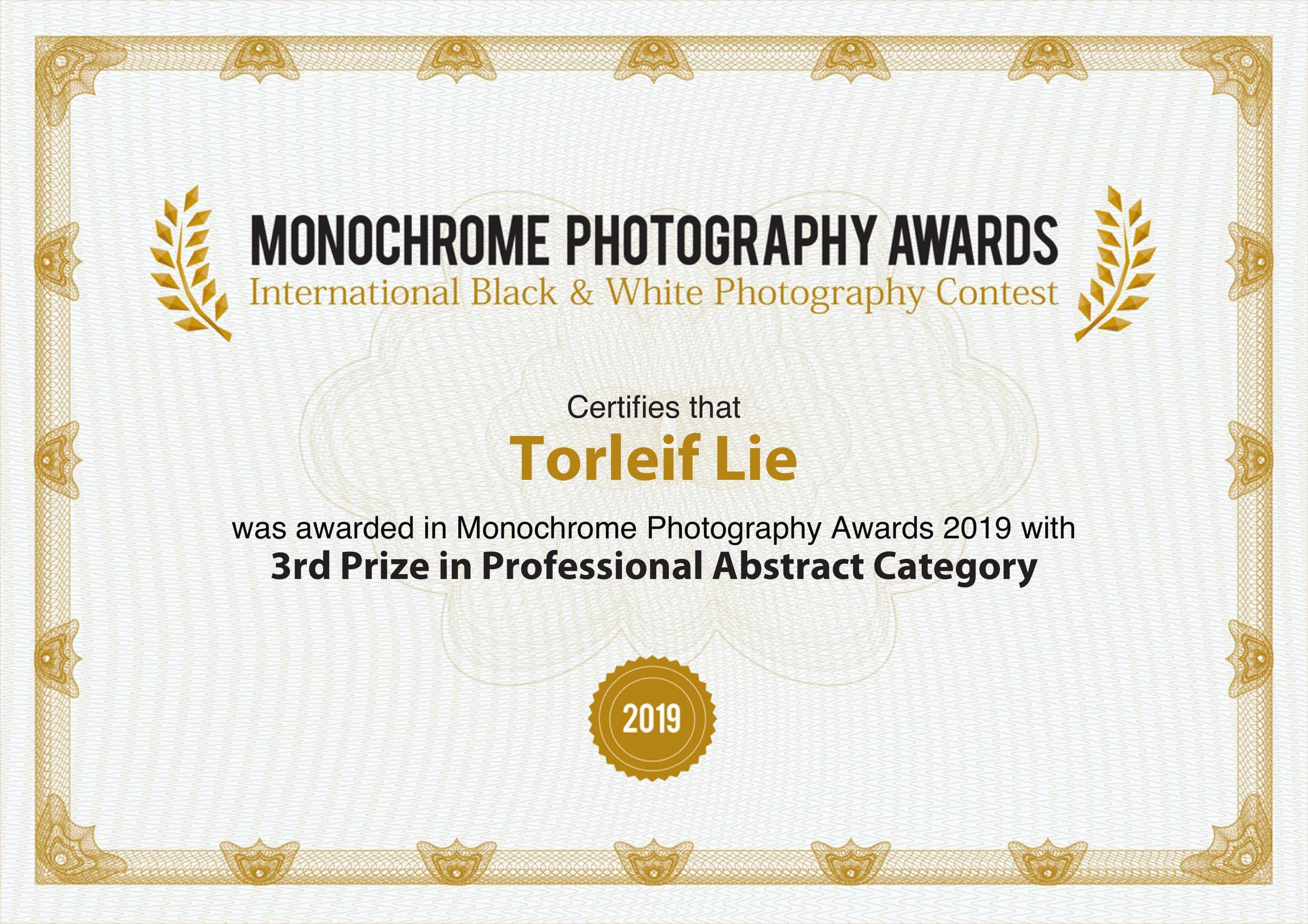 monoawards_certifcate_Torleif_Lie Kerauso